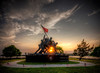 """""""Sunset on the Iwo Jima Monument In Fall River""""<br /> May 29th, 2013 at 7:29PM<br /> Fall River, Massachusetts"""