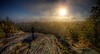 """""""Early Morning Myst""""<br /> October 5th, 2012<br /> Top of the Assonet Ledge<br /> Freetown State Forest in Freetown, MA"""